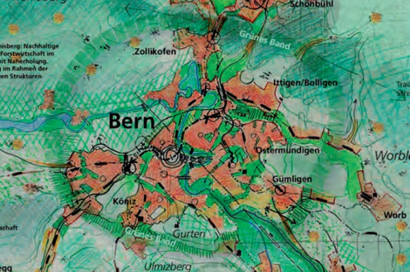 Konzept «Grünes Band» rund um Bern