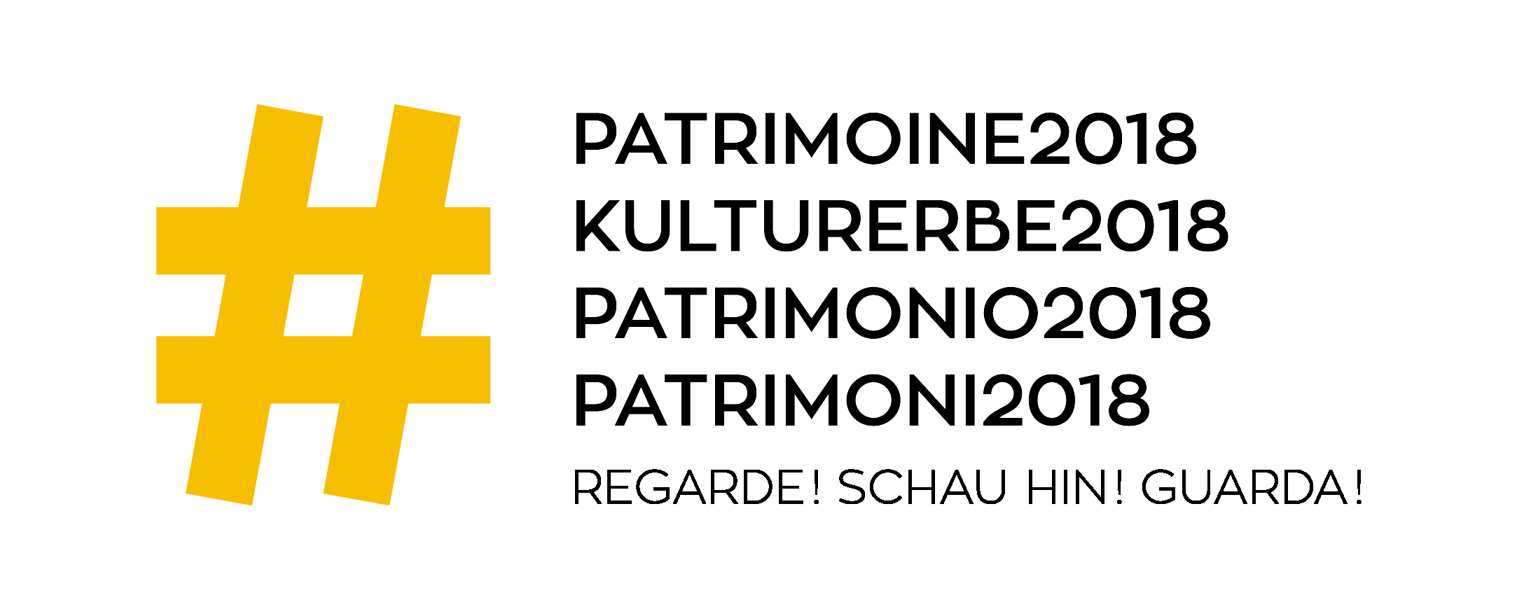 Patrimoine logo slogan rgb jaune